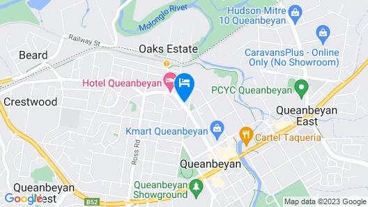 Queanbeyan Motel Map
