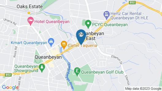 Golden Age Motor Inn Queanbeyan Map