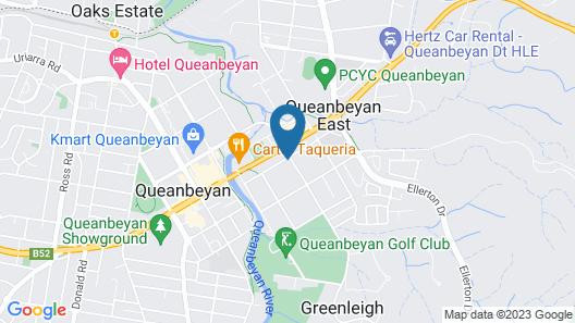 Grand Manor Motor Inn - Queanbeyan Map