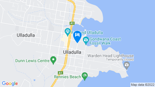 Ulladulla Harbour Motel Map