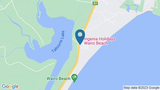 Wairo Beach Holiday Park Map