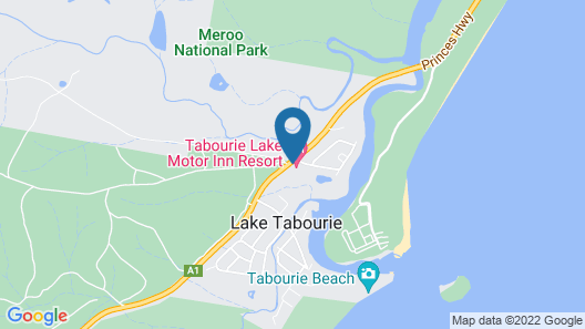 Tabourie Lake Motel Map