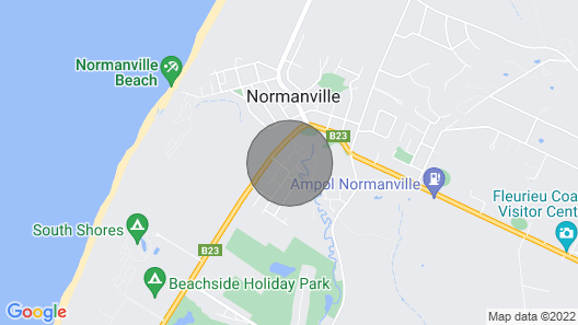 Pebbles Cottage at Normanville Map