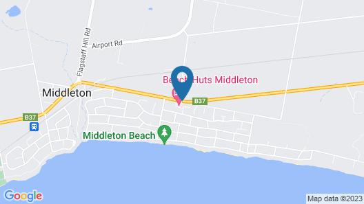 Beach Huts Middleton Map