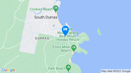 NRMA Murramarang Beachfront Holiday Resort Map
