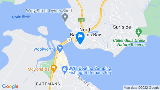 BIG4 Batemans Bay At Easts Riverside Holiday Park Map