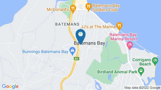 Batemans Bay Holiday Park & YHA Map