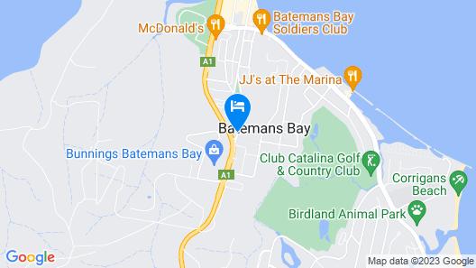 Batemans Bay Holiday Park & YHA Map
