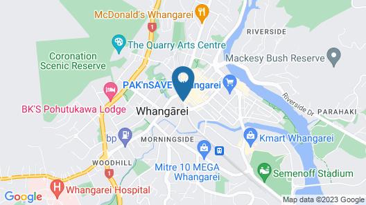 Grand Hotel, Whangarei Map