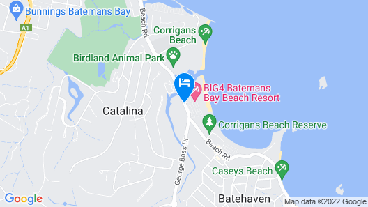BIG4 Batemans Bay Beach Resort Map