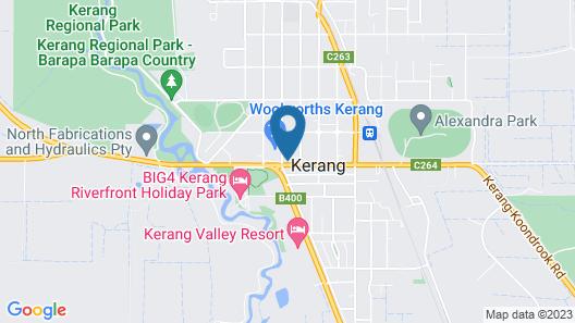 Kerang Motel Map