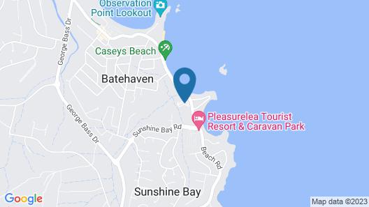 Caseys Beach Holiday Park Map