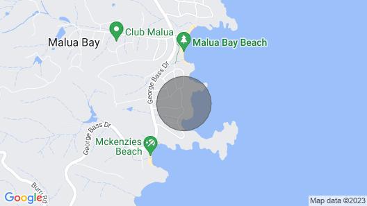 Swimming Pool Over Malua Bay Map