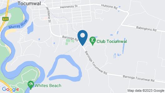 Tocumwal Golf Resort Map