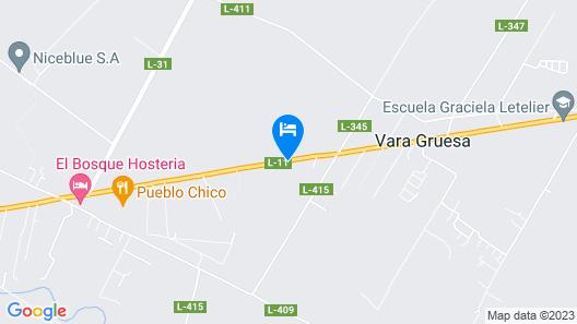 Hotelera Monteblanco Linares Map