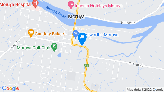 Luhana Motel Moruya Map