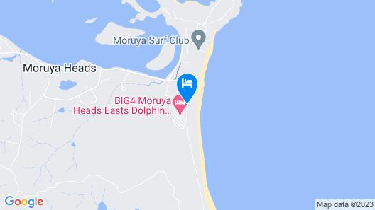 BIG4 Moruya Heads Easts Dolphin Beach Holiday Park Map