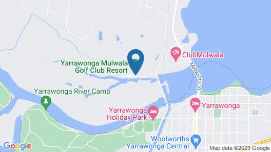 Yarrawonga Mulwala Golf Club Resort Map