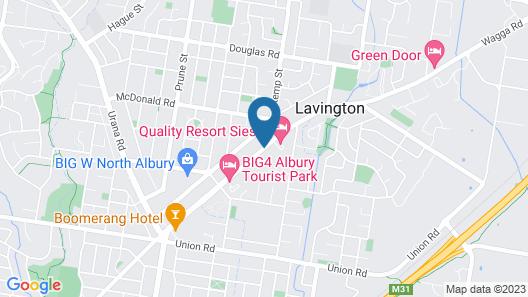 Crystal Fountain Motel Albury Map