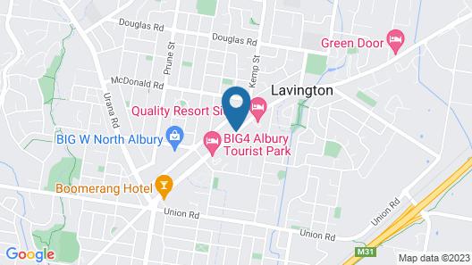 Albury Classic Motor Inn Map
