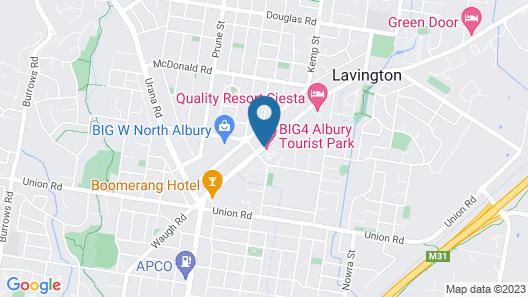 BIG4 Albury Tourist Park Map