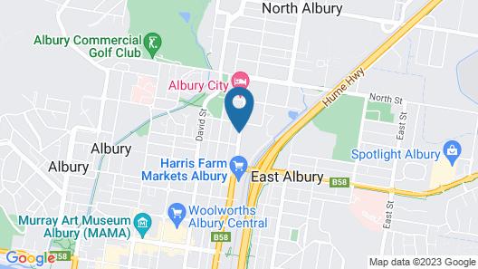 Albury Burvale Motor Inn Map
