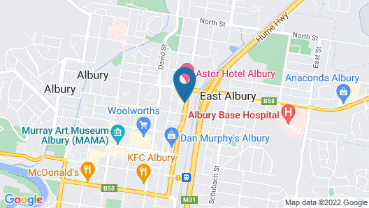 Albury Georgian Motel & Suites Map