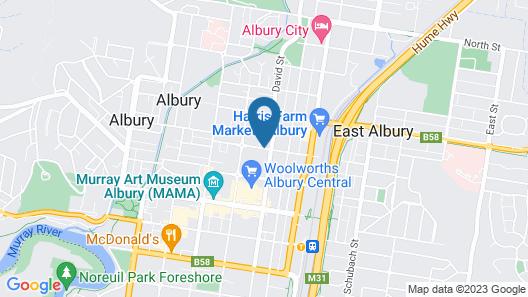 Albury Townhouse Motel Map