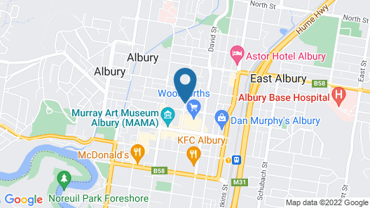 Mercure Albury Map