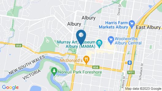Albury Regent Motel Map