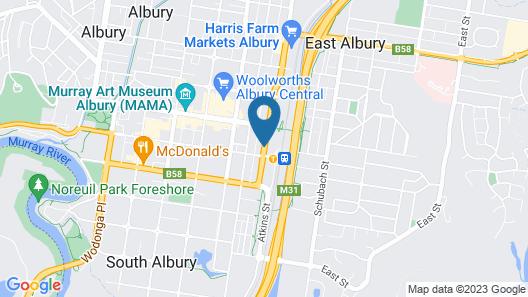 Albury Central Motel Map