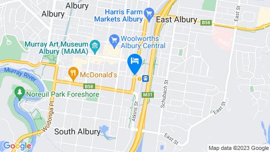 Albury Clifton Motel Map