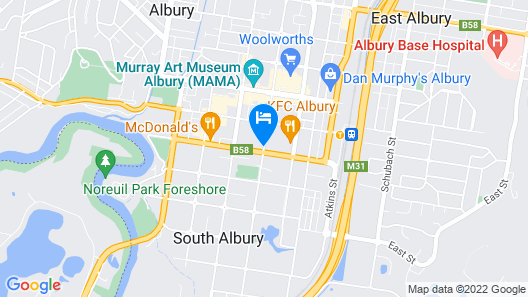 Albury Allawa Motor Inn Map