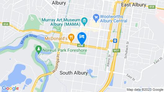 The Cottage Motor Inn Albury Map