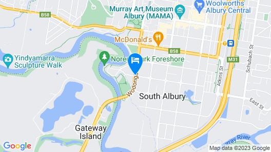 Australia Park Motel Map