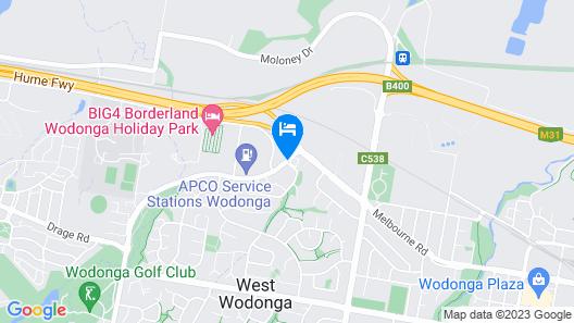 Belvoir Village Motel & Apartments Wodonga Map