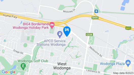 Econo Lodge Border Gateway Wodonga Map