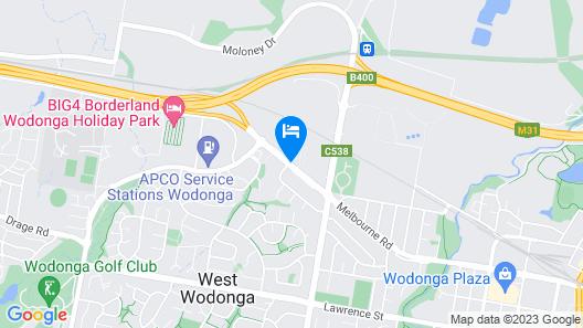 Stagecoach Motel Wodonga Map