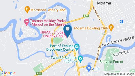 NRMA Echuca Holiday Park Map