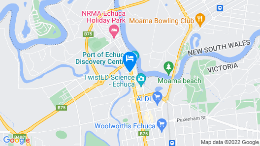 Campaspe Lodge at the Echuca Hotel Map