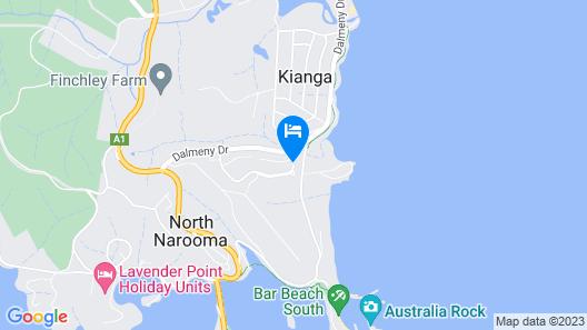 Beachfront Apartments Narooma Map