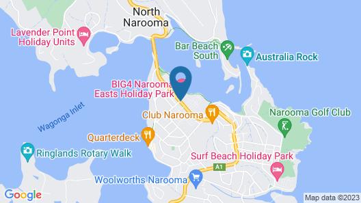 BIG4 Narooma Easts Holiday Park Map