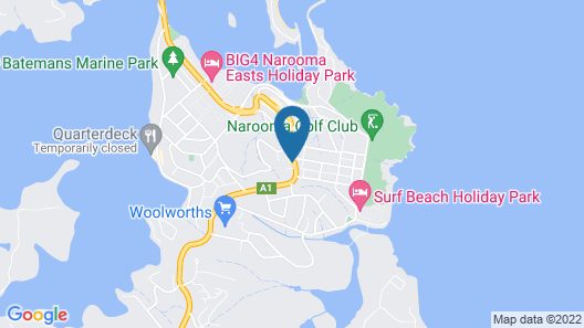 Top of the Town Motel Narooma Map
