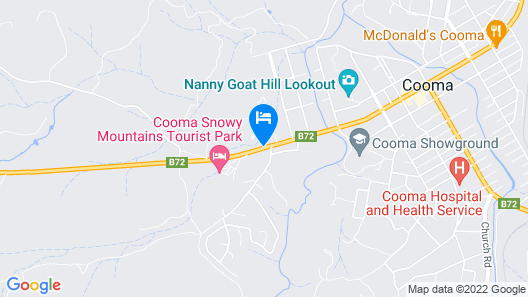 Cooma Country Club Motor Inn Map