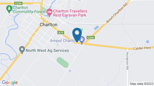 Charlton Motel - Victoria Map