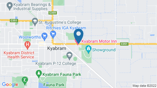 Kyabram Motor Inn Map