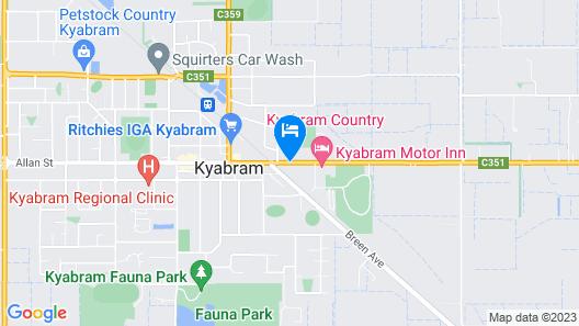 Kyabram Country Motel Map