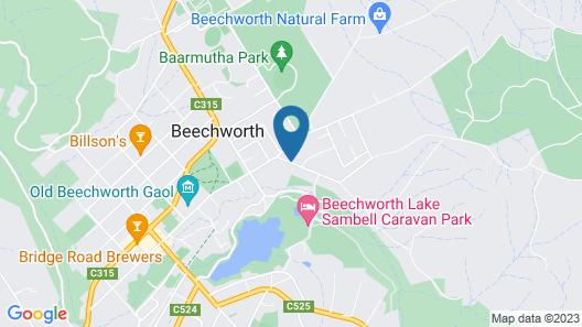 Beechworth Cedar Cottages Map