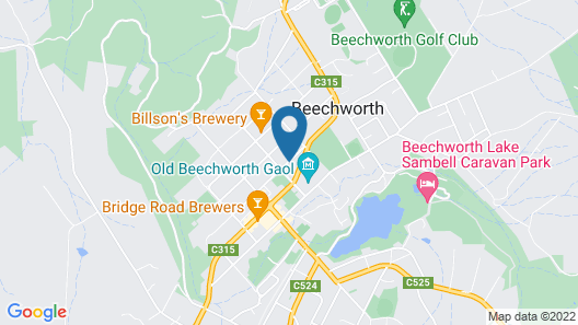 The Graces Beechworth Map