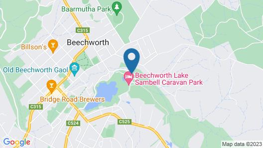 Beechworth Lake Sambell Caravan Park Map